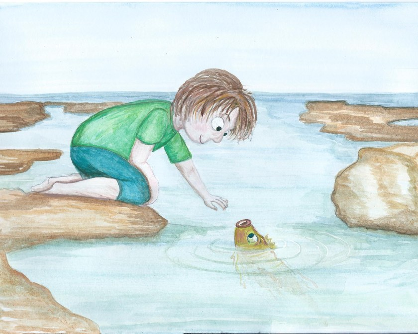 Discovery. Entry for Susanna Hill's illustration contest. Watercolour and Acrylic.